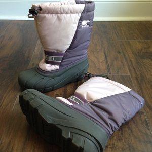 EUC Sorel Girls Snow Boots